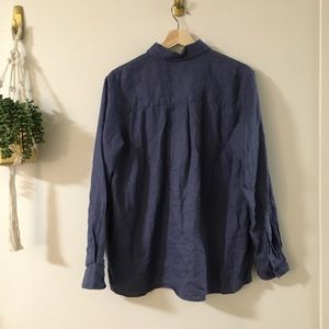 L.L. Bean Tops - Linen Button Up